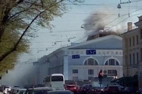 Пожар в петербургском манеже повредил фасад и подсобки