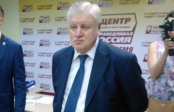Миронов рассчитывает на вторую по численности фракцию в Петербурге