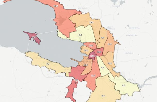 Студент-первокурсник создал «Карту преступлений Петербурга»