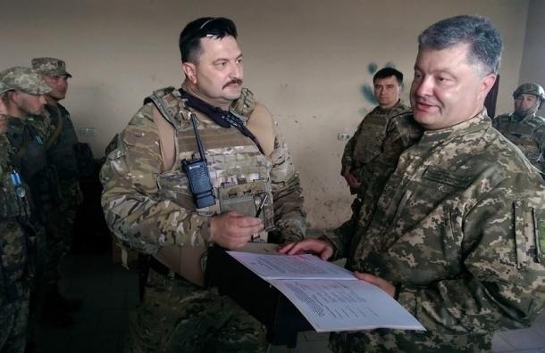 Петр Порошенко внезапно прибыл в Донбасс