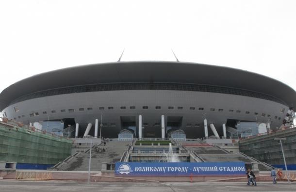 Стадион на Крестовском острове засеяли травой