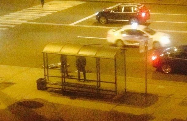 Мигранта зарезали на остановке на проспекте Ветеранов