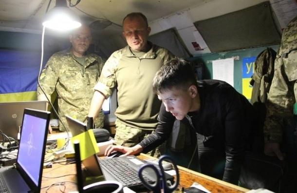 Савченко приехала в зону боевых действий и села за штурвал вертолета