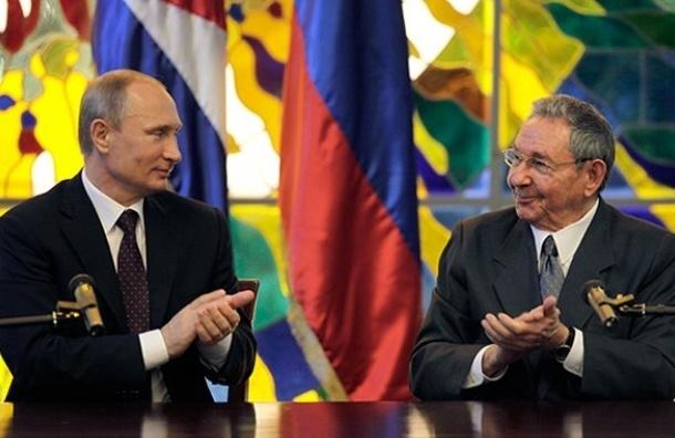 Путин поздравил Рауля Кастро с 85-летием