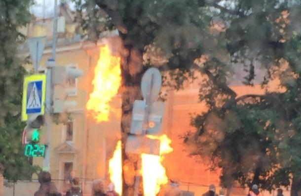 Возгорание газа произошло на Васильевском острове