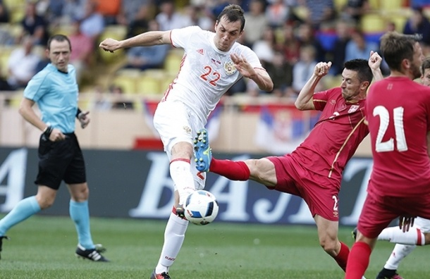 Перед Евро-2016 сборная России сыграла вничью с сербами