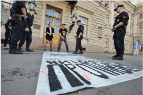 Активисты провели акцию против решения Полтавченко «о мосте Кадырова»