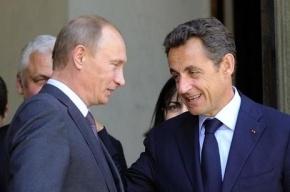 Путин встретился Саркози в Стрельне