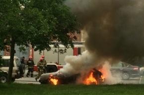 ВАЗ 2108 сгорел на улице Кузнецова