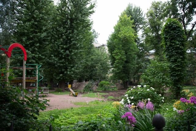 Дмитриева остановила вырубку деревьев в своем дворе: Фото