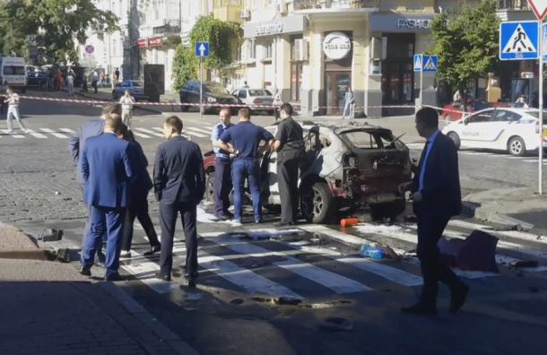 Кадры с места гибели журналиста Павла Шеремета появились в Сети