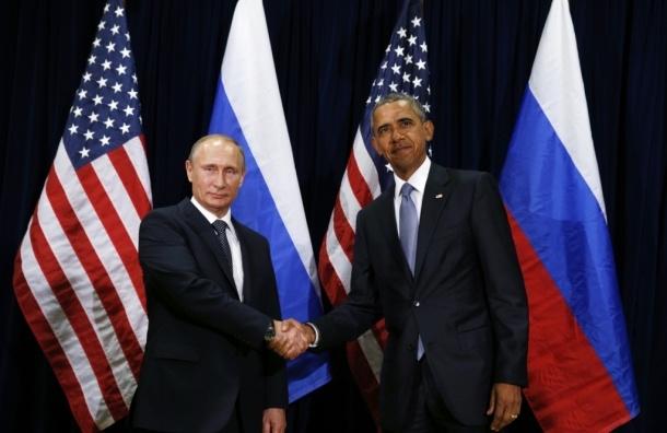 Владимир Путин поздравил Барака Обаму с Днем Независимости