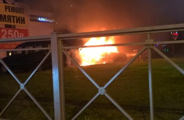 «Калина» горела на проспекте Культуры