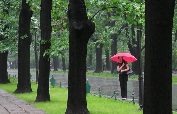 Ливни и ураганный ветер не покинут Петербург