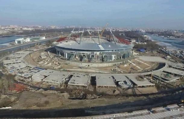Строительство стадиона «Зенит-Арена» может остановиться как минимум на 30 дней