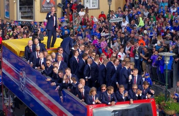 Сборную Исландии встретили на родине как героев