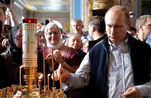 Путин посетил литургию на Валааме