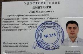 Кандидат «ПАРНАСа» официально зарегистирован соперником Милонова