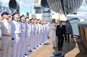 Путин взошел на палубу «Авроры»