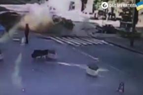 В Сеть попал момент взрыва машины с Павлом Шереметом
