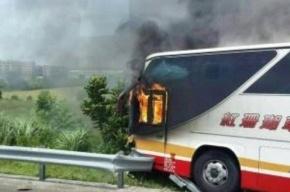 Заживо сгорели 26 туристов в автобусе на Тайване