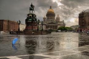 Понедельник в Петербурге будет дождливым, но безветренным