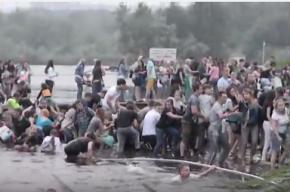 Мост с людьми обрушился в Челябинской области