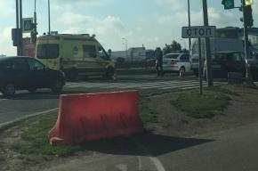 Автобус сбил женщину на Пулковском шоссе