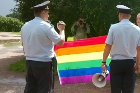 ЛГБТ-активистам полиция не дала провести акцию на Марсовом поле