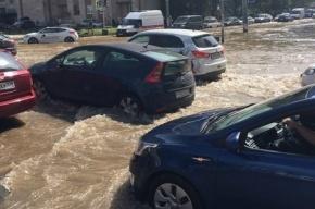 Потоп на севере города удалось локализовать