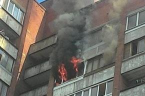 Пламя уничтожило комнату в доме на проспекте Ударников