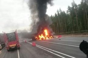 Два грузовика столкнулись на «Скандинавии», есть погибший