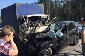 Очевидец: Грузовик протаранил легковушку на Приморском шоссе, есть погибший