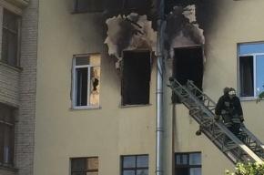 Квартира выгорела на Шкиперском протоке