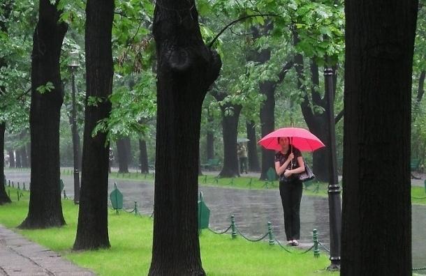 Петербург ждет сильный дождь и гроза