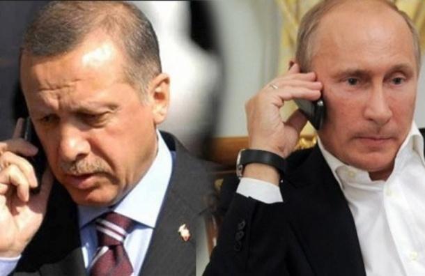 Путин поддержал Эрдогана по телефону
