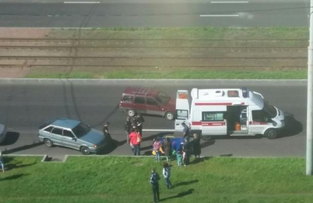 НаСветлановском проспекте автомобилист сбил ребенка