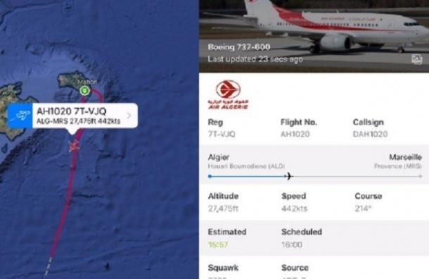 Борт Air Algerie пропал с экранов радаров
