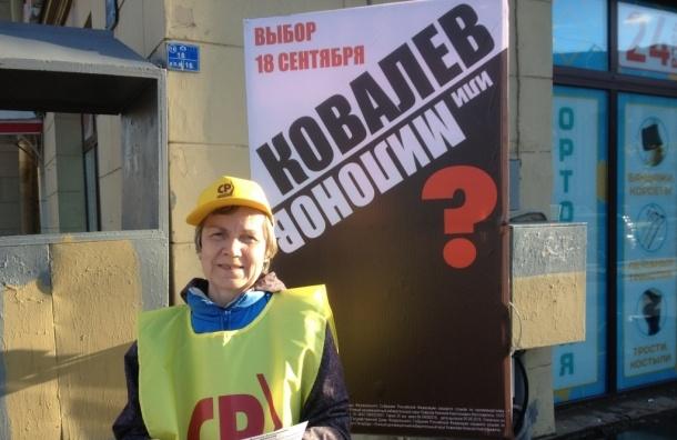 Петербурженка пожаловалась на агитацию депутата Ковалева