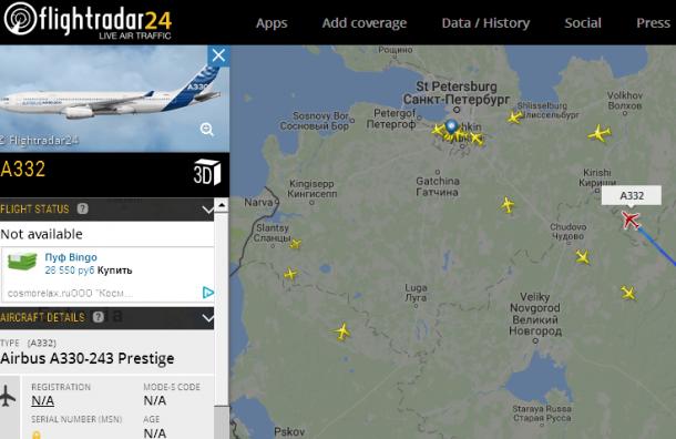 Президент Турции приближается к Петербургу