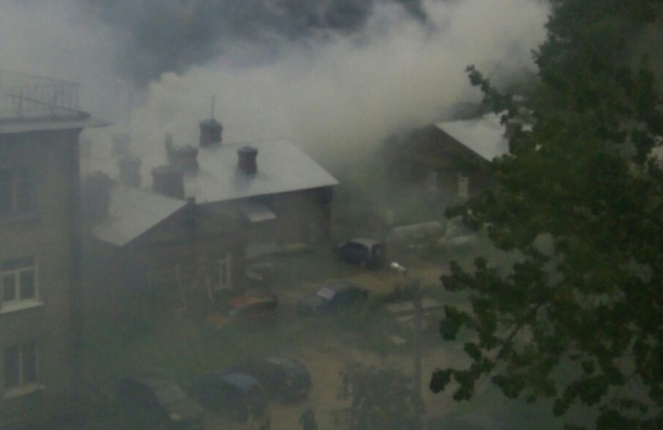 Дом сгорел на Беломорской улице