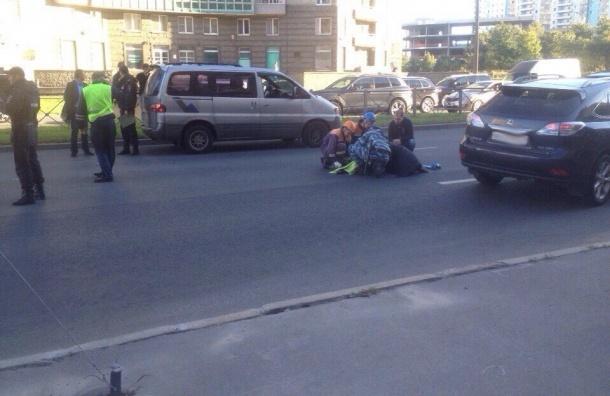 Ребенка сбили на пешеходном переходе на Одоевского