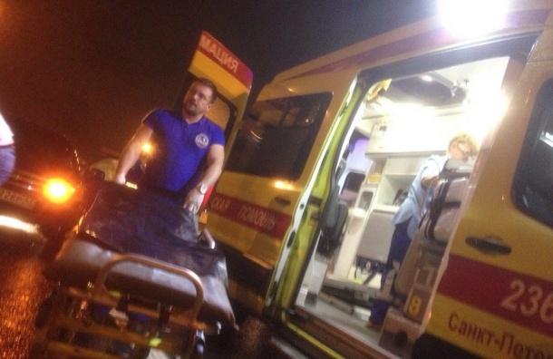 «КамАЗ» на КАД сбил водителя, попавшего в ДТП