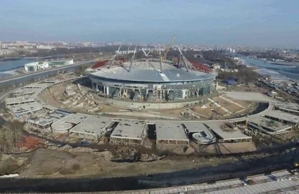 Рабочий со стадиона «Зенит-Арена» госпитализирован после падения с высоты