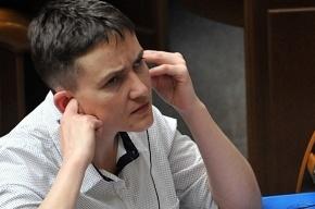 Надежда Савченко проводит митинг у администрации Порошенко
