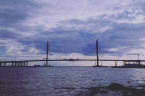 Последний пролет ЗСД в устье Невы установили на вантовом мосту