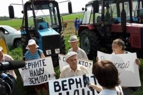 Тракторный марш идет на Москву