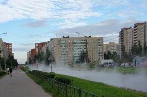 Ленскую улицу затопило кипятком