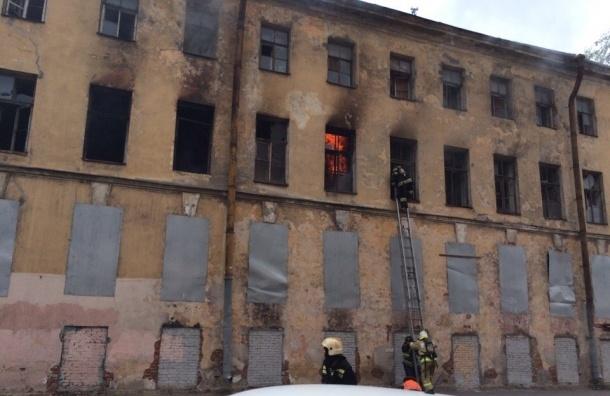 Дом Фокина горит на Мясной улице