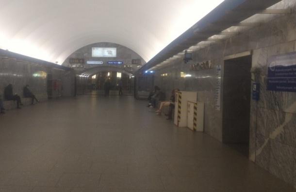 Полиция перекрыла выход на станции «Московская» на Алтайскую улицу